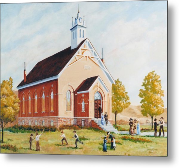 Old Porterville Church Summer Metal Print by JoAnne Corpany