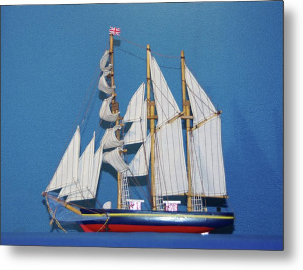 Old Tall Sail Ship Metal Print by Hugh Kroetsch