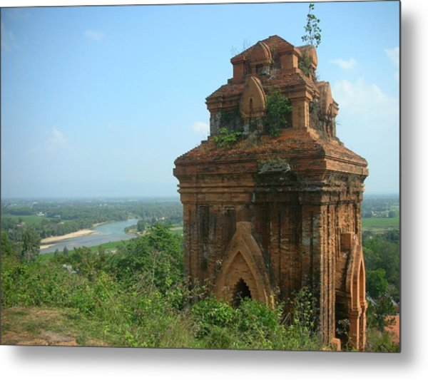 Old Temple In Vietnam Metal Print