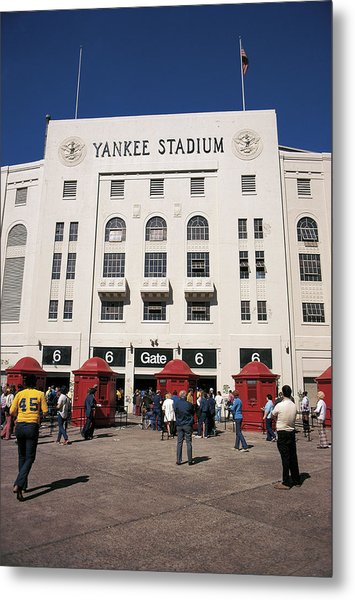 Old Yankee Stadium Last Game Metal Print