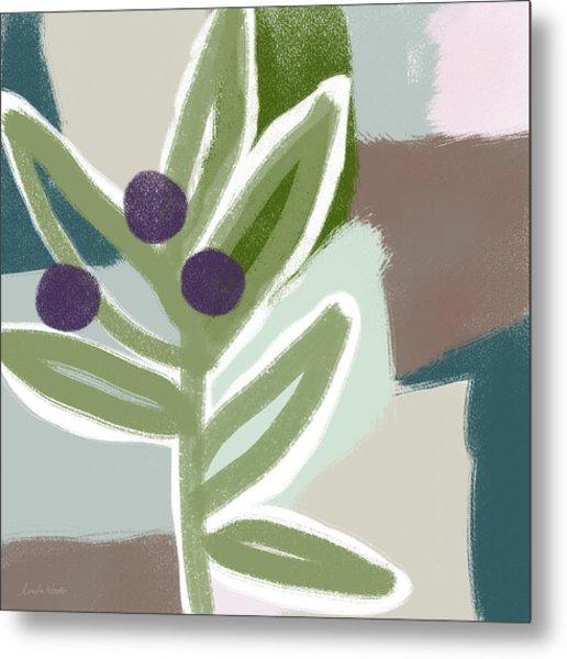 Olive Branch 1- Art By Linda Woods Metal Print