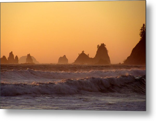 Olympic Sunset Metal Print by Ty Nichols