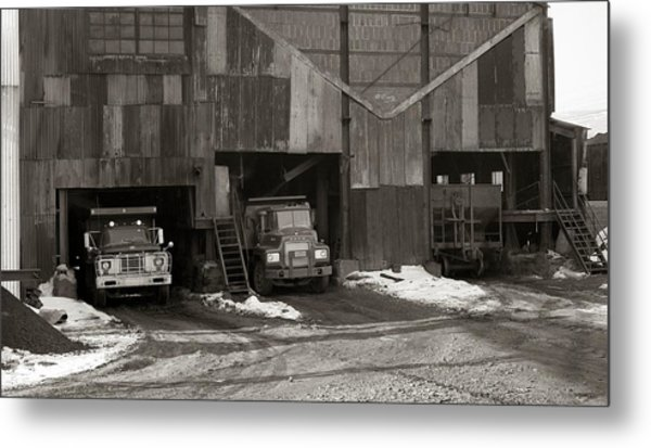 Olyphant Pa Coal Breaker Loading Trucks And Gondola Car Winter 1971 Metal Print