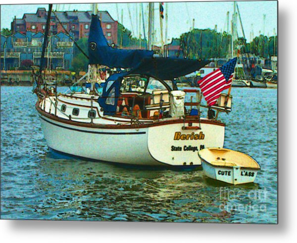 Metal Print featuring the painting On Chesapeake Bay by Elinor Mavor