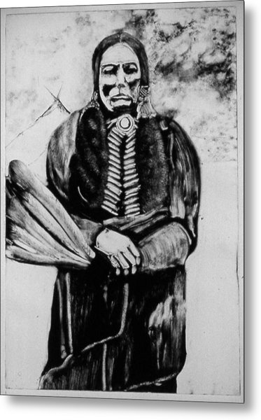 On Kiowa Reservation Metal Print by Dan RiiS Grife