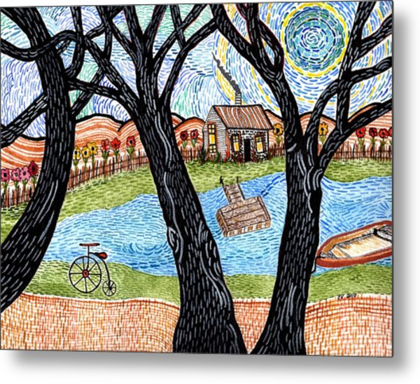 One Country Home Metal Print