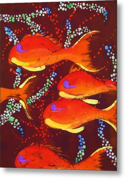 Orange Coral Reef Fish Metal Print