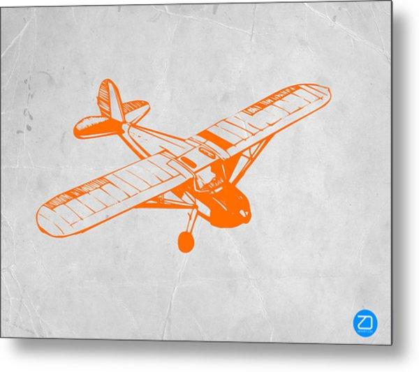 Orange Plane 2 Metal Print