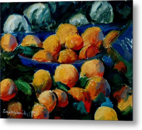 Oranges Metal Print by George Siaba