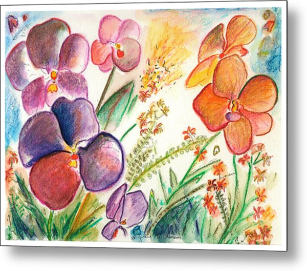 Orchid No. 12 Metal Print by Julie Richman