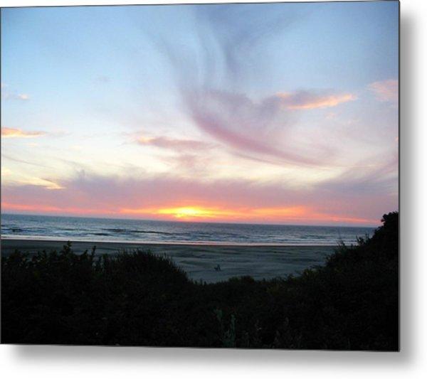 Oregon Coast Sunset Metal Print by Mirinda Kossoff
