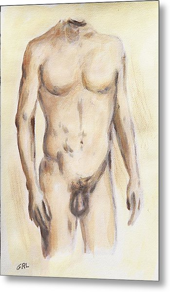 Original Painting Of A Nude Male Torso Metal Print