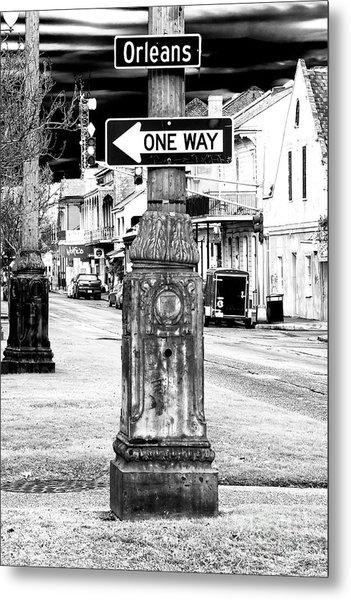 Orleans Street One Way Metal Print