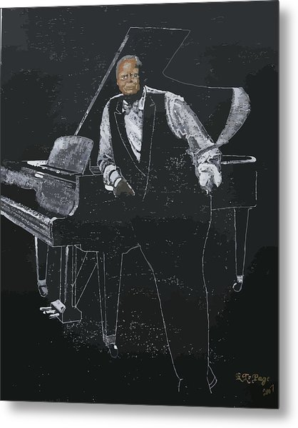 Oscar Peterson Metal Print