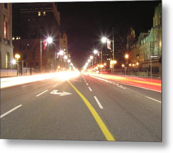 Ottawa Street At Night Metal Print by Richard Mitchell
