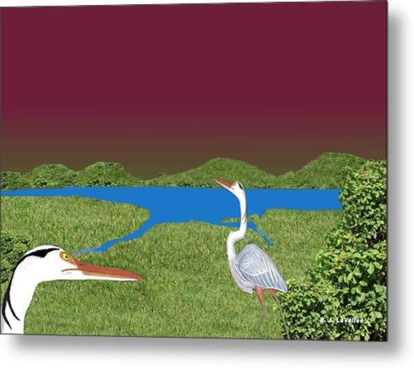 Our Blue Herons Metal Print