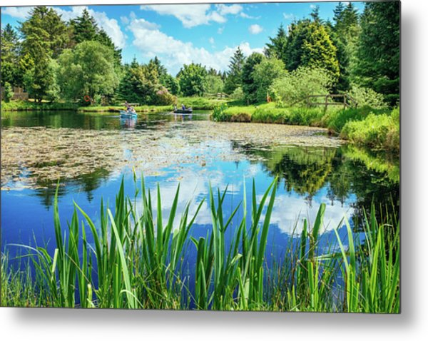 Out On The Boats Metal Print by Alan Campbell