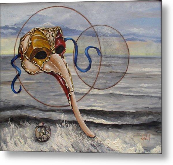 Over The Ocean Metal Print by Ixchel Amor