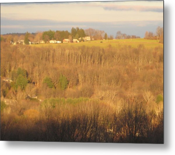 Oxford Sunglow Metal Print by Marcia Crispino
