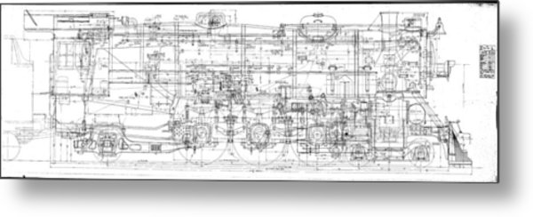 Pacific Locomotive Diagram Metal Print