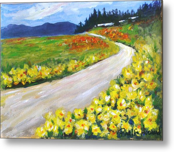 Metal Print featuring the painting Padilla Trail by Phyllis Howard