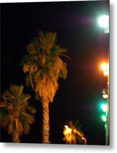 Palm Tree Glow Metal Print by Heather S Huston