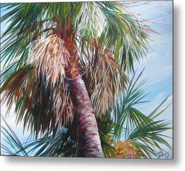 Palmetto In Acrylics Metal Print