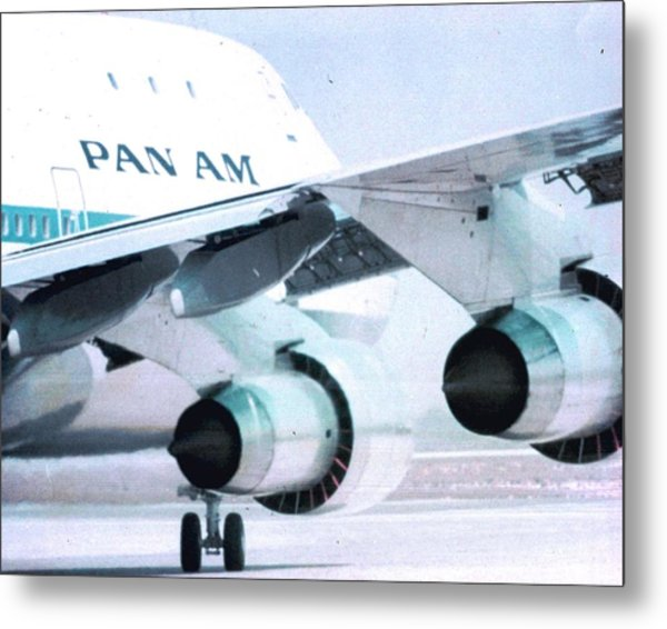 Pan Am 747 At Los Angeles International Airport Metal Print