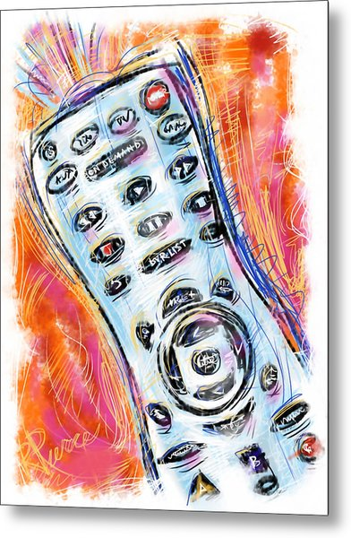 Pass The Remote Metal Print by Russell Pierce