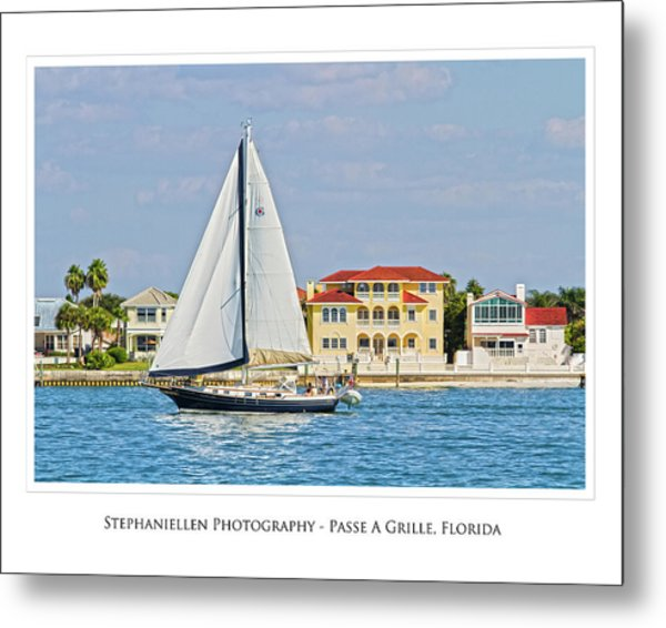 Passe A Grille Sailboat Metal Print