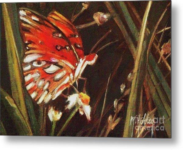 Passion Butterfly - Gulf Fritillary Metal Print