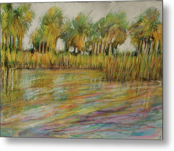 Pastel Palms Metal Print by Michele Hollister - for Nancy Asbell