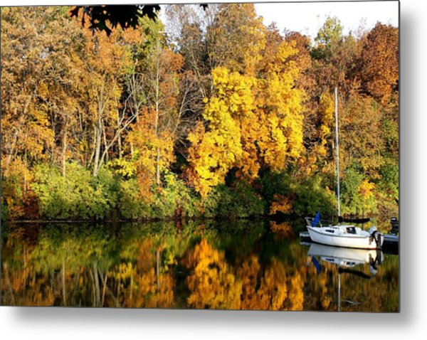 Peaceful Reflections Metal Print by Bruce Bley