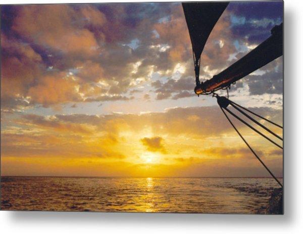 Peaceful Sailing Metal Print by Kathy Schumann