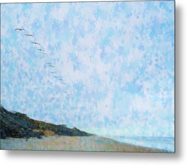 Pelican Mission Metal Print