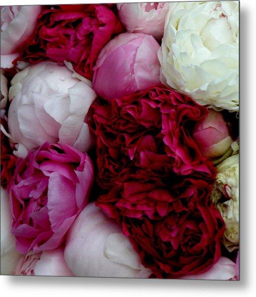 Peony Bouquet Metal Print