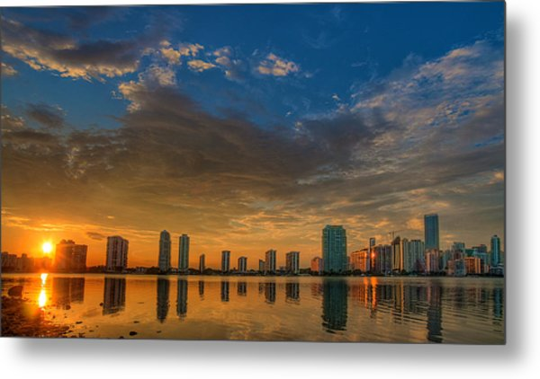 Perfect Sunset Metal Print by William Wetmore