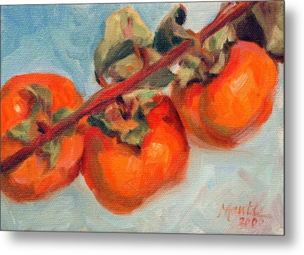 Persimmons Metal Print by Athena Mantle
