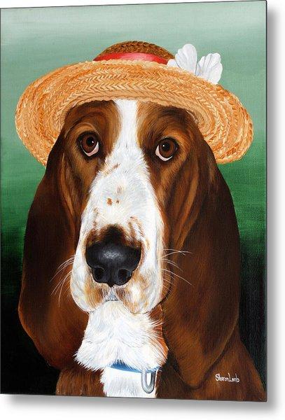 Pet Portrait Painting Commission Dogs Cats Horses  Metal Print by Sharon  Lamb