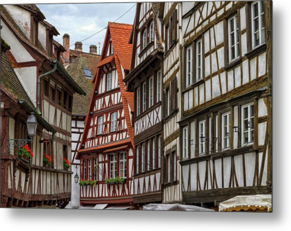 Petite France Houses, Strasbourg Metal Print
