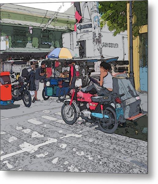 Philippines 673 Street Food Metal Print