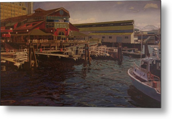 Pier 55 - Red Robin Metal Print