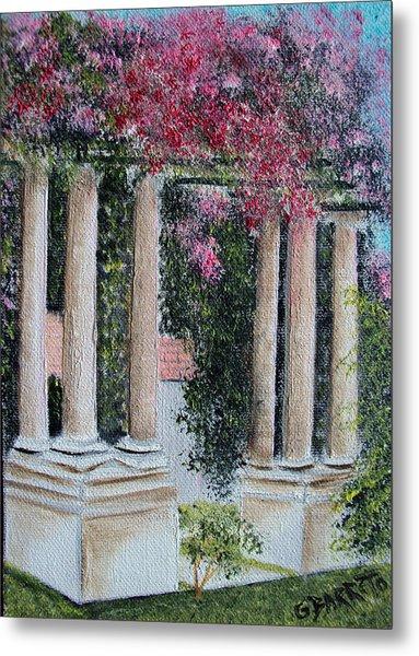 Pillars In The Garden Metal Print