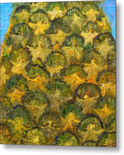 Pineapple Angels Metal Print