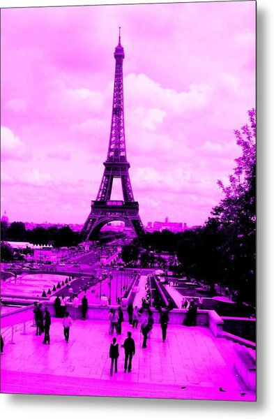 Pink Paris Metal Print