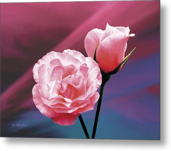 Pink Roses Metal Print by Jan Baughman