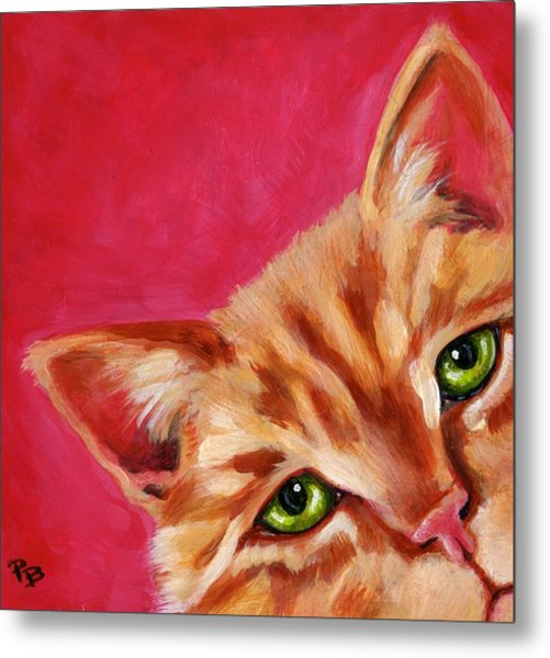 Pink With Attitude Metal Print by Pat Burns