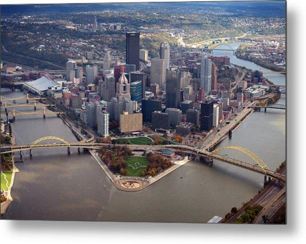 Pittsburgh 8 In Color  Metal Print