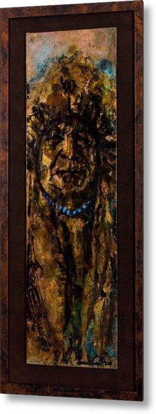 Plains Indian Chief Metal Print