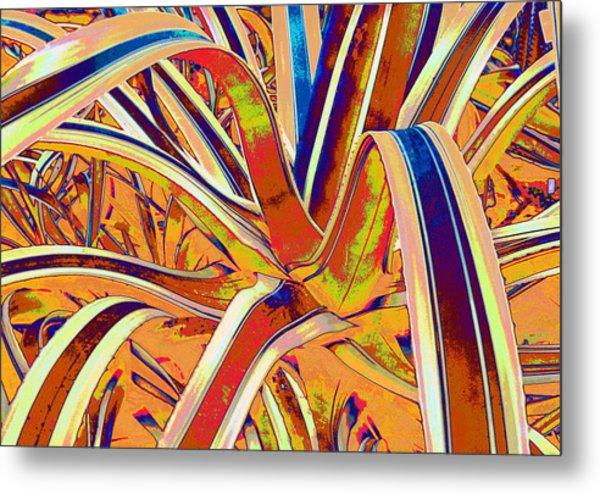 Plant Leaves Manip Metal Print by Russ Mullen